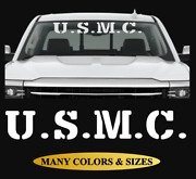 Military Usmc Marine Corps Windshield Vinyl Decal Sticker For Ford Chevy Dodge 4
