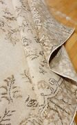 Antique Cr1930-1949and039s Natural Dye Distressed Wool Pile Oushak Area Rug 7x12ft