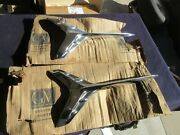 2 - Nos 1960 60 Chevy Impala 4 Door Airplane Trim Moldings Spears Moulding
