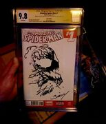 Stan Lee Signed ✍️ Cgc 9.8 Ss 🚨carnage Sketched Art 1/1 The Amazing Spiderman 1