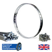 21 Wm1 Stainless Wheel Rim And Spoke Set Triumph Bsa 6 Conical Front Tr5t B50