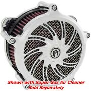 Performance Machine Pm Supra Chrome Super Gas Air Cleaner Insert Only