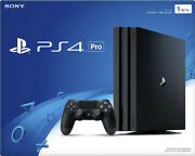 Sony Playstation 4 Pro Jet Black Console [4k Hdr Enhanced Gaming Sony Ps4] New