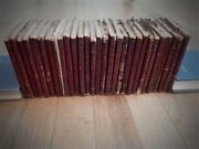 Huge Lot Of 28 Little Leather Library Red Miniature Antique Books