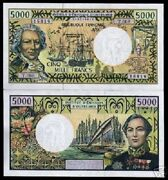 French Pacific Territories 5000 5000 Francs P-3 B 2004 Ship Unc Bill Money Note