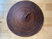 A Beautiful Chinese Or Vietnamese Rattan Shield For Chinese Sword Collector