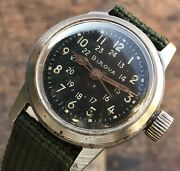 Vintage Bulova Mil-w-3818a Cal. 10bnch Stainless Steel Military Watch W/ Hack
