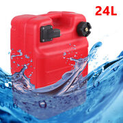 Gas Tank Gasoline Diesel Outboard Fuel Tank Fit Boat Portable 24l+connector Fast