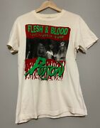 Vintage 1991 Poison And Slaughter Flesh And Blood World Tour T-shirt Size Large Usa