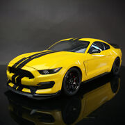 Autoart 118 Ford Mustang Shelby Gt350r Diecast Model Car Yellow Resin Vehicles