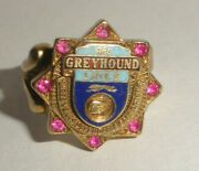 Rare Vintage 10k Gold Greyhound Bus Lines Ruby Enamel Safe Driver Ring Pinky S 5