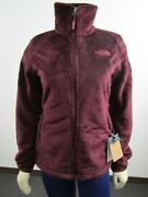 Nwt Womens The Osito Midweight Soft Fleece Full Zip Jacket - Red