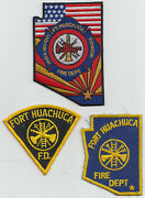 3 Fort Huachuca Arizona Fire Dept Patches. See Photo