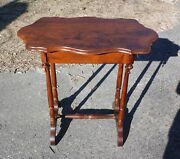Antique 19th C Victorian Occasional Table Entry Table Console Sofa Table