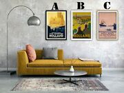 Holland Travel Vintage Advertising Art Print Posters. Choice Of 3 Great Prints