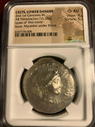 Celts Lower Danube 2nd-1st Cent. Bc Silver Tetradrachm Ngc Choice Au Ancient