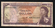 East Caribbean States 20 Dollars P-15 H 1965 Boat Queen Money Bill Bank Note