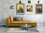 New Zealand Travel Vintage Advertising Art Print Posters. Choice Of 3 Prints