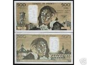 France 500 Francs P-156 1992 Pre Euro Large Aunc Money Bill French Bank Note