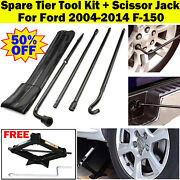 2 Ton Scissor Jack And Lug Wrench Extension Spare Tire Tool For 04-14 Ford F150