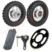 Front And Rear 2.5-10 10 Wheels Tires And Rims 2.50-10 W/ Chain Sprocket Ttr50 Xr