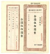 China Republic Central Bank Foochow Branch 500 Gold Yuan Nd 1949 Au Unlisted