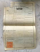 Antique Greene County Missouri Deed Document Land Bill Of Sale 1871 Tax Stamps