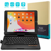 For Ipad 7th Gen 10.2tab 2019 Bluetooth Keyboard Case Stand With Pencil Holder