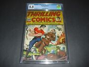 Thrilling Comics 11 Cgc 5.5 W/ Ow/w Pages 1940 Early Schomburg Nazi Not Cbcs