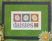 Daisy Do--3 White Flowers With Quilt Backgrounds--counted Cross Stitch Pattern