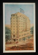 1940s Artist Sketch The Roger Smith Hotel New Brunswick Nj Middlesex Co Pc