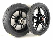 Harley Enforcer Black Front 19 And 16 Rear Wheels W/ Tires Harley Flh/t 09-up