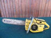 Vintage Mcculloch 1-42 Chainsaw Chain Saw With 18 Bar