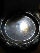 Antique Epca Bristol By Poole 85 Silverplate 12 Ornate Footed Serving Tray