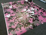 Pink Digital Camouflage Vinyl Wrap Matte Vehicle Wrap For Car Truck And Boat