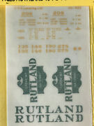 Cds 425 Rutland 40and039 Ps Boxcar Lettering Dry Transfers Set Ho Scale New Nos