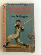 Antique Softcover Lucky To Be A Yankee Joe Dimaggio 1949 Baseball
