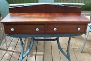 Antique Fruitwood Cherry Dresser Top Step Back Chest Glove Box Drawers Salvage