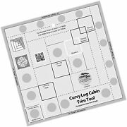 Creative Grids Curvy Log Cabin Trim Tool Quilting Ruler Template For 8 Finis...