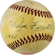 Wes Ferrell Signed Vintage Reach Al Baseball Inscribed 1953 - Red Sox Indians