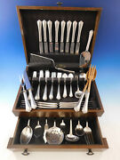 Rosemary By Easterling Sterling Silver Flatware Set For 8 Service 63 Pieces