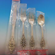 Grand Majesty By Oneida Sterling Silver Flatware Set For 6 Service 24 Pcs New