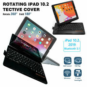 Fits Ipad 10.2 7th Gen 2019 Slim Keyboard With Tough Case And Apple Pencil Holder