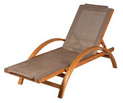 Chaise Lounge Chair Indoor Outdoor Patio Recliner Pool Deck Leisure Lounger
