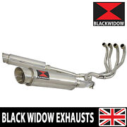 Zzr 1100 Zx-11 Zx11 4-2 Exhaust System Gp Round Stainless Silencers Sg36r