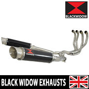 Zzr 1100 Zx-11 Zx11 4-2 Exhaust System Gp Round Black Stainless Silencers Bg36r