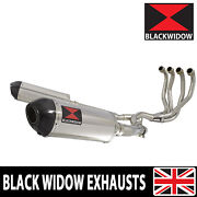 Zzr 1100 Zx-11 Zx11 4-2 Exhaust System Oval Stainless + Carbon Silencers 300st