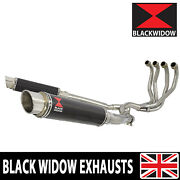 Zzr 1100 Zx-11 Zx11 4-2 Exhaust System Gp Round Carbon Silencers Cg35r