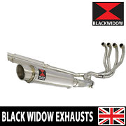 Kawasaki Zzr 1200 4-2 Full Exhaust System 350mm Round Stainless Silencer Sg35r
