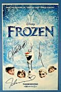 Disney 'frozen' Signed Autographed By Cast 11 X 17 Poster